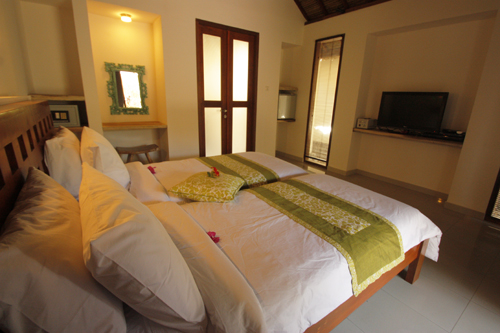 Waterfront Hotel Bedroom Gili Air